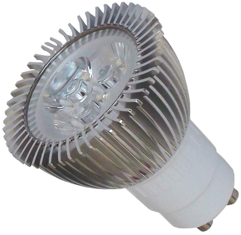 Ampoule GU10 3x1 watts spéciale 12 volts
