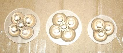 Réflecteurs pour ampoule direct. de 3 et 5 watts