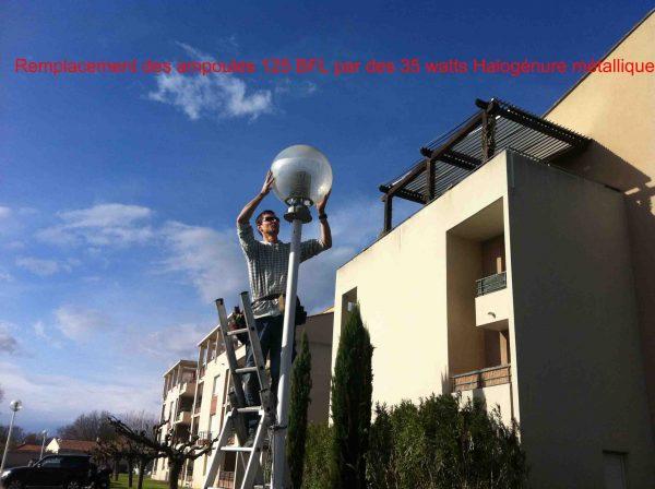 Ampoule E27/E40 de 35 watts halogénure métallique