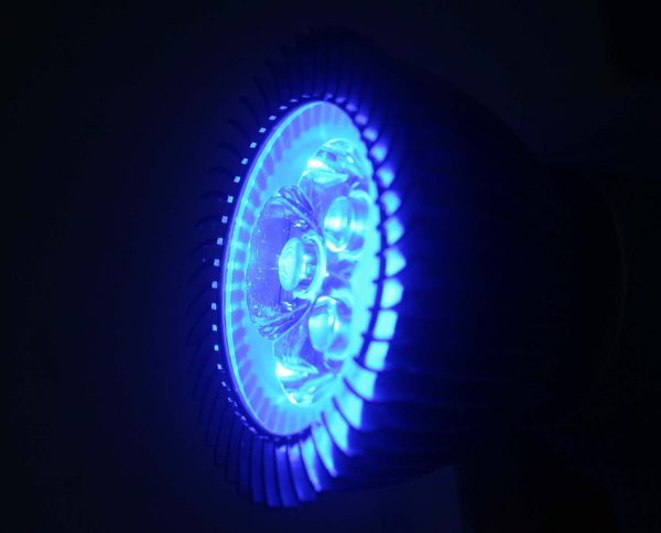 Ampoule GU10 3*1 watts Bleu