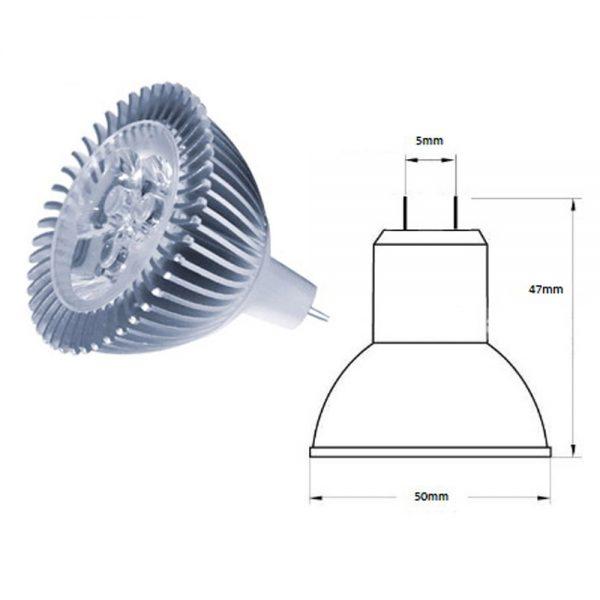 Ampoule MR16 3X1 watts