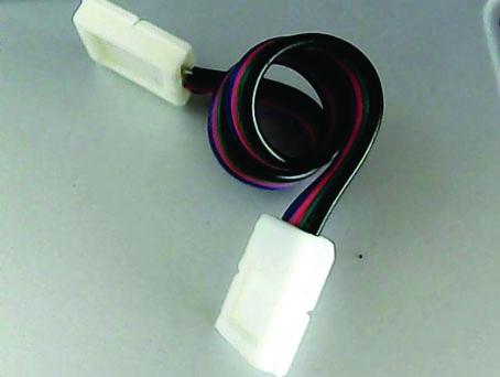 Prise double pour ruban à led RVB 10 mm